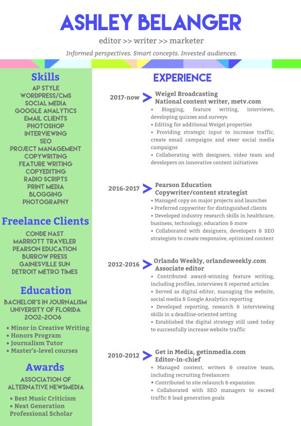 2018 Resume - Ashley Belanger